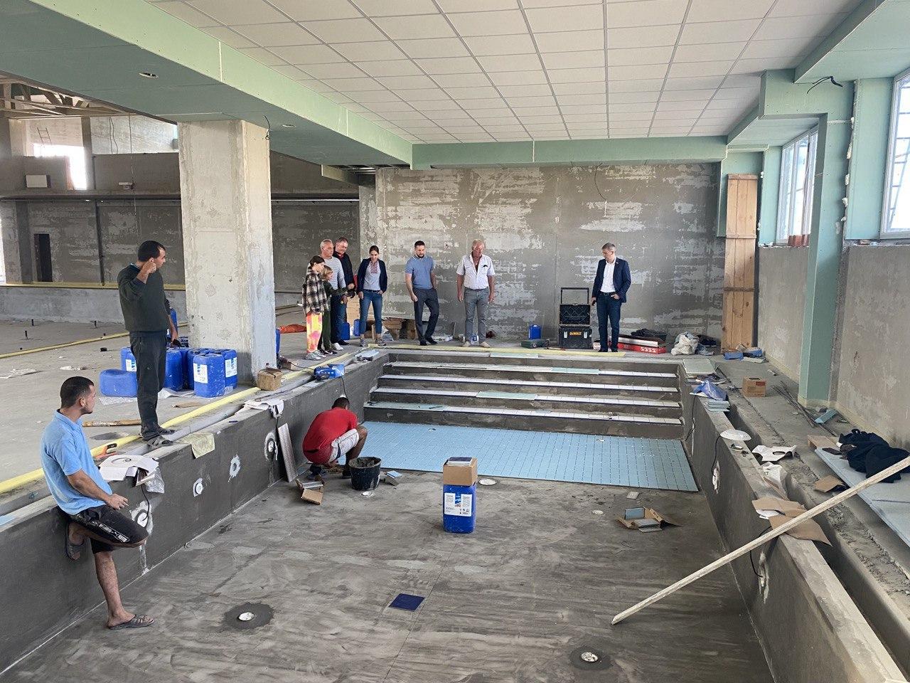 Будівництво басейну: що зроблено?